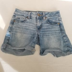 American Eagle Outfitters Midi Length Jean Shorts